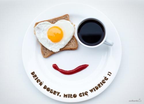śniadanie Do łóżka Miłego Dnia Dzień Dobry Kartki